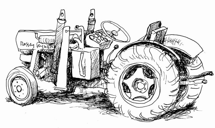Dessin De Tracteur Les Dessins Et Coloriage