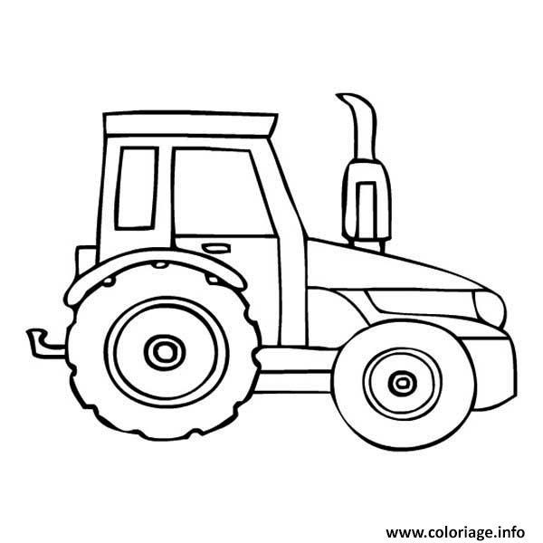 dessin de tracteur - Les dessins et coloriage