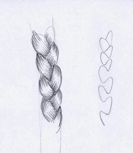 dessin de tresse