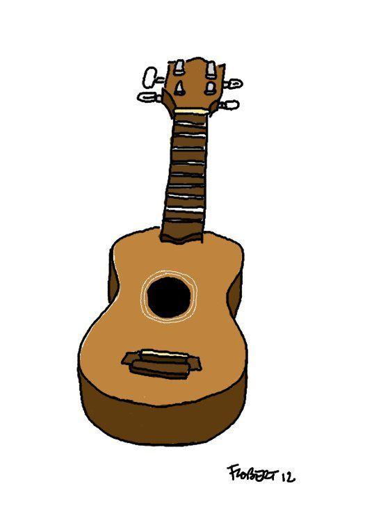 dessin de ukulele