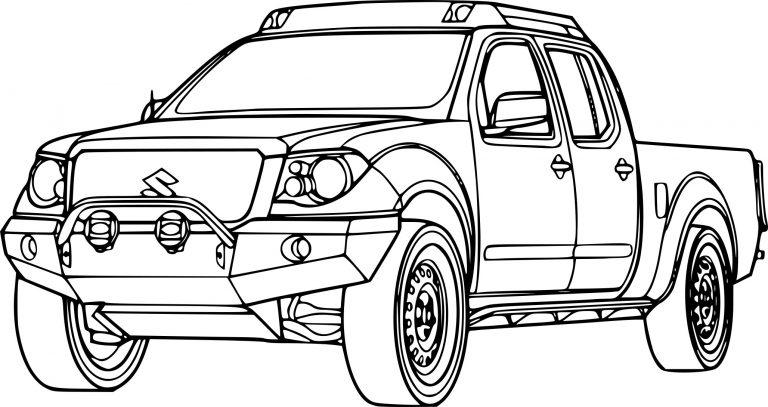 dessin de voiture 4x4