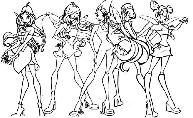 dessin de winx club a imprimer
