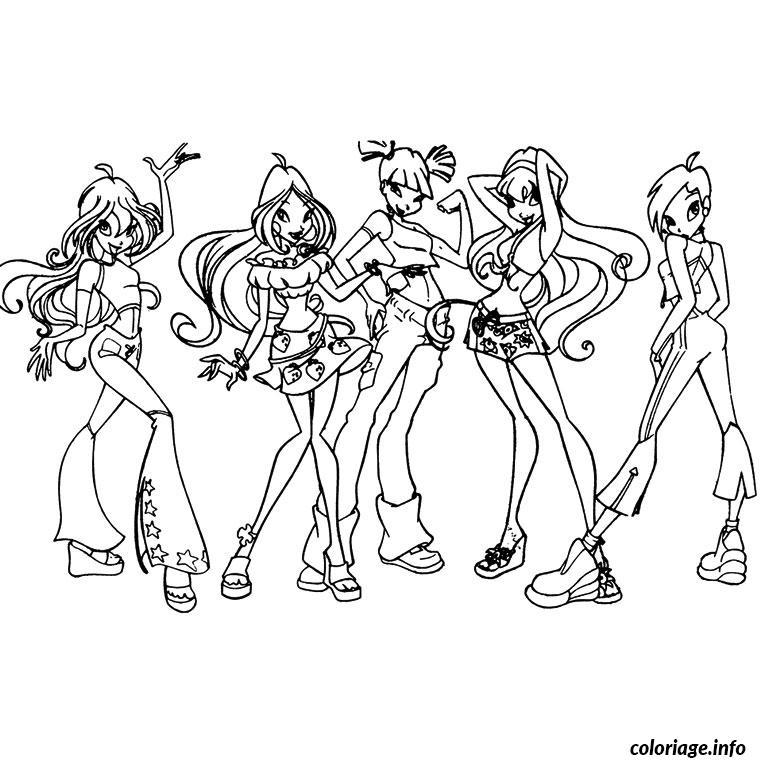 dessin de winx club - Les dessins et coloriage