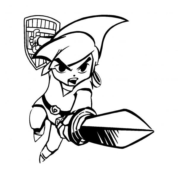 dessin de zelda - Les dessins et coloriage