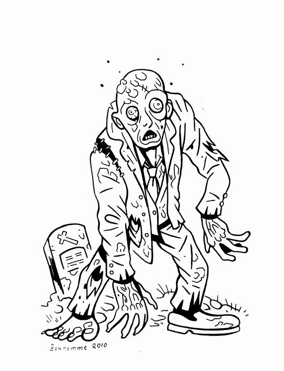 dessin de zombie halloween