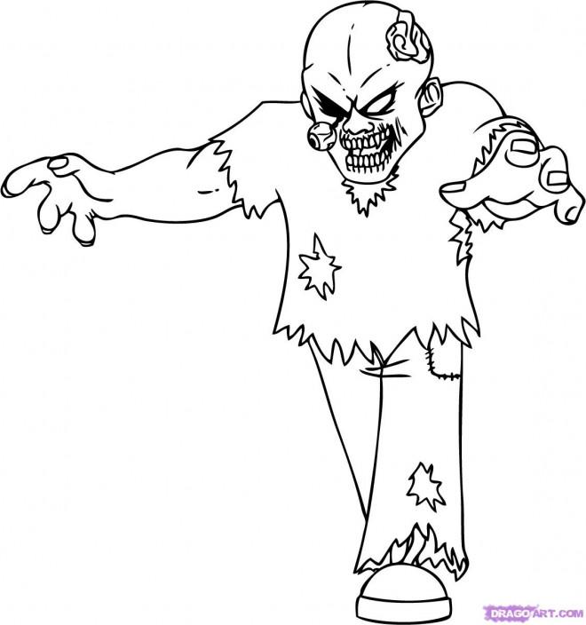 dessin de zombie