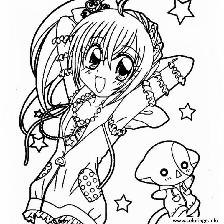 Dessin Manga A Colorier Et A Imprimer Les Dessins Et Coloriage
