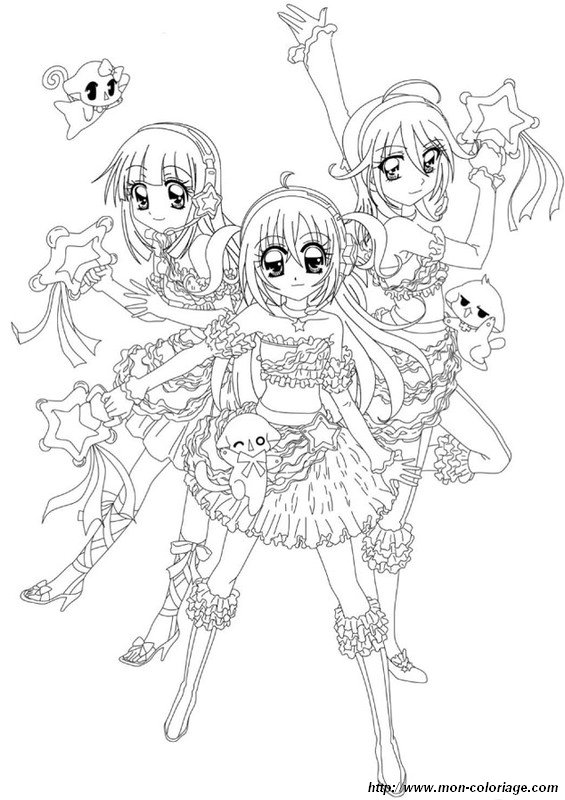Dessin Manga A Decalquer Les Dessins Et Coloriage