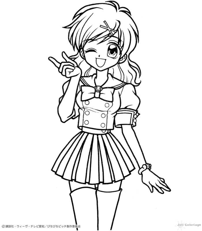 dessin manga a imprimer gratuit - Les dessins et coloriage