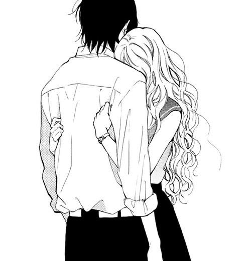 dessin manga amoureux