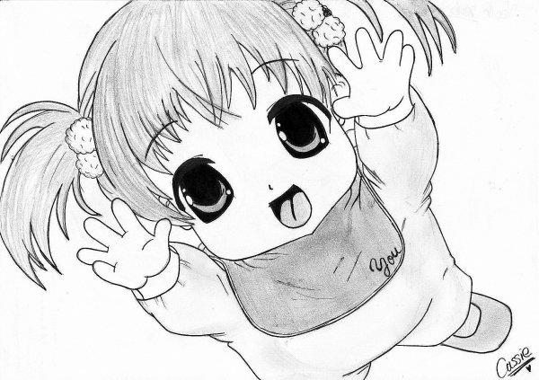 Coloriage Manga Fille Et Garcon.Dessin Manga Bebe Les Dessins Et Coloriage