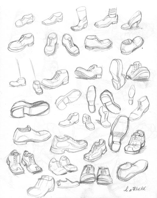 dessin manga chaussure