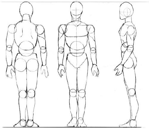 dessin manga corps homme