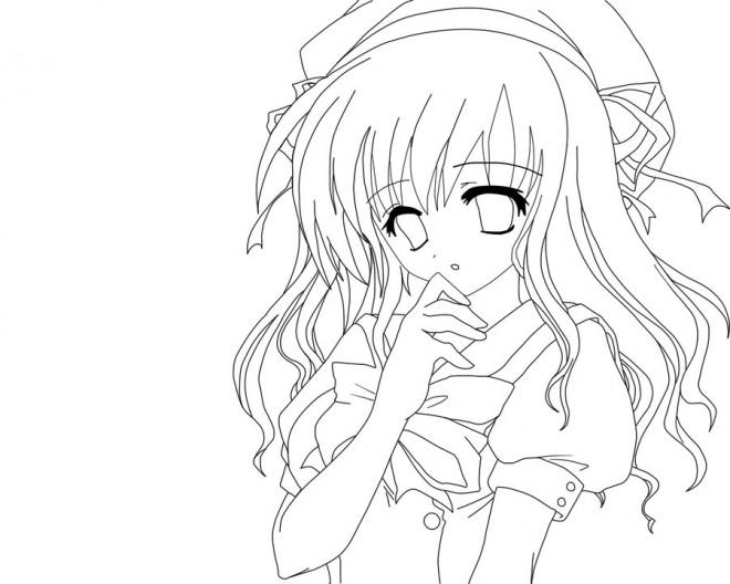 Coloriage Manga Fille Et Garcon.Dessin Manga De Fille Les Dessins Et Coloriage