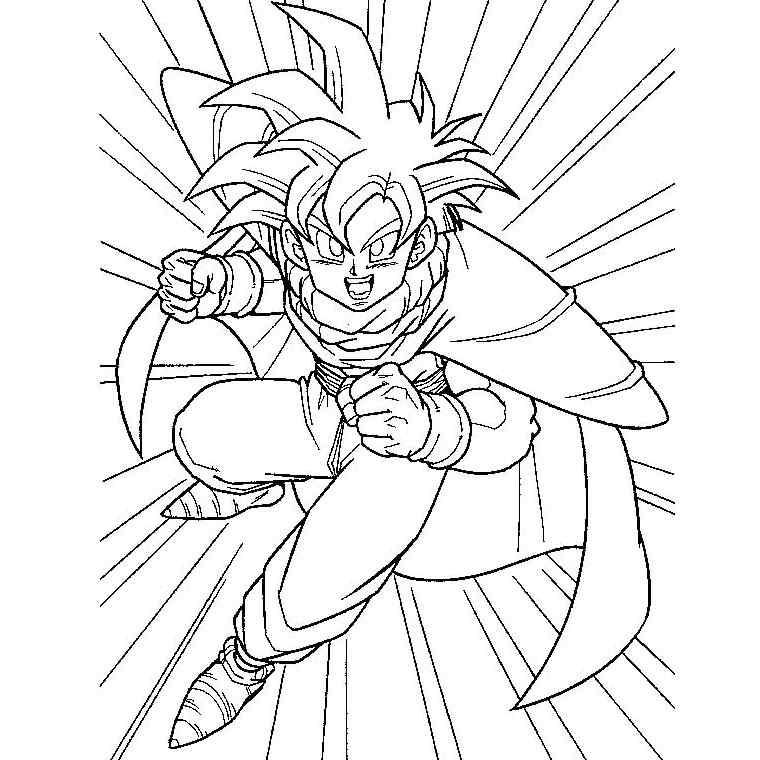 dessin manga dragon ball z a imprimer