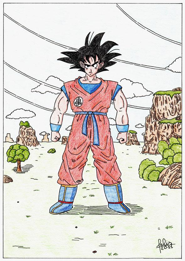 dessin manga dragon ball z facile - Les dessins et coloriage