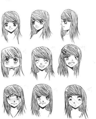 dessin manga emotion