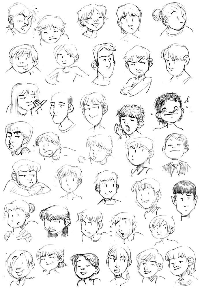 dessin manga expression du visage
