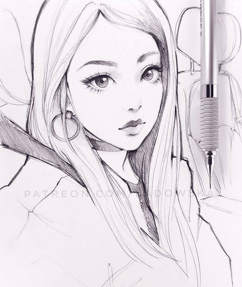 dessin manga femme