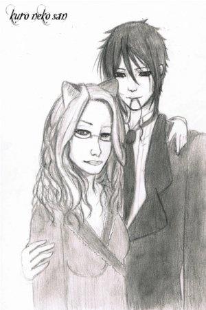 dessin manga fille et garcon