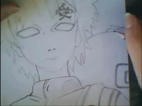 dessin manga gaara
