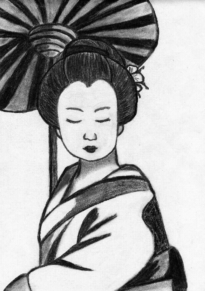 dessin manga geisha