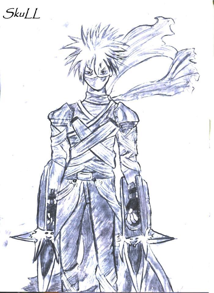 dessin manga guerrier