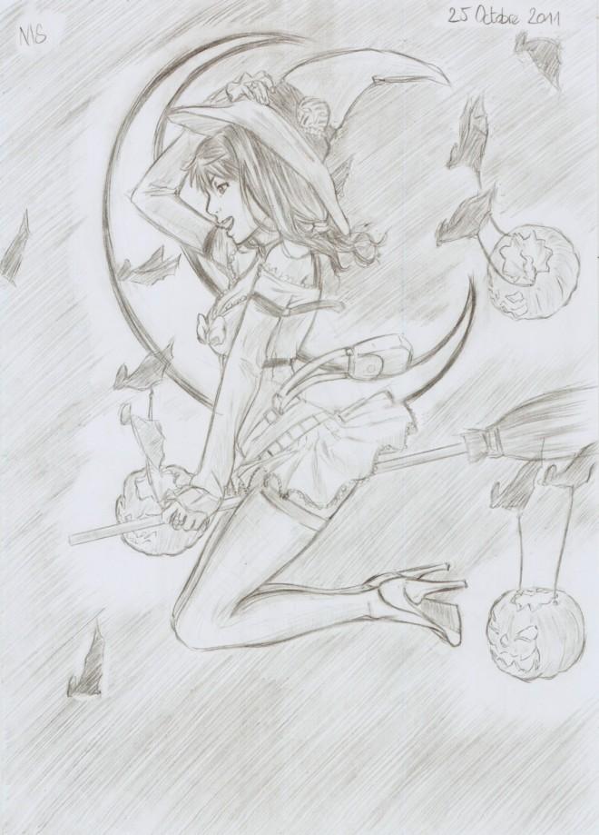 Dessin Manga Halloween Facile Les Dessins Et Coloriage