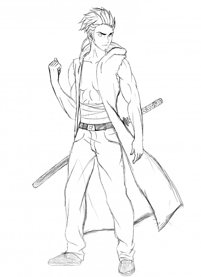 dessin manga hero