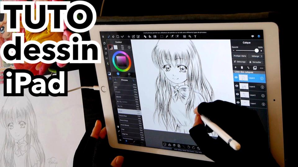 dessin manga ipad