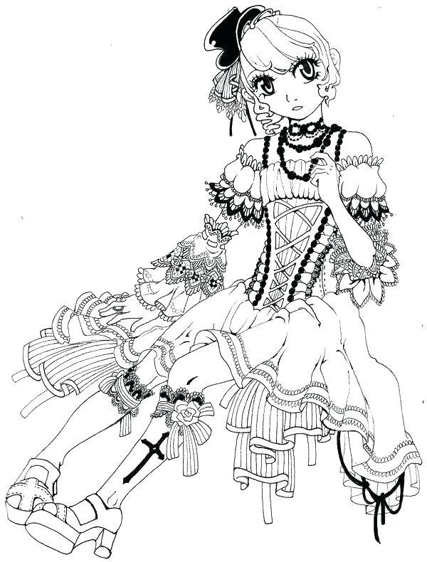 Coloriage Fille Kawaii A Imprimer.Dessin Manga Kawaii A Colorier Les Dessins Et Coloriage