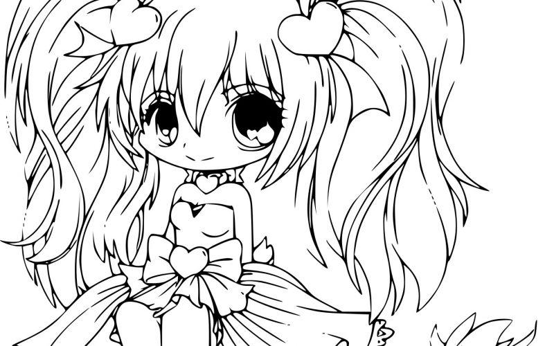 dessin manga kawaii a colorier