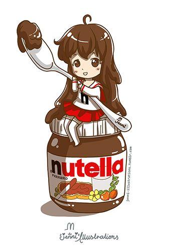dessin manga nutella
