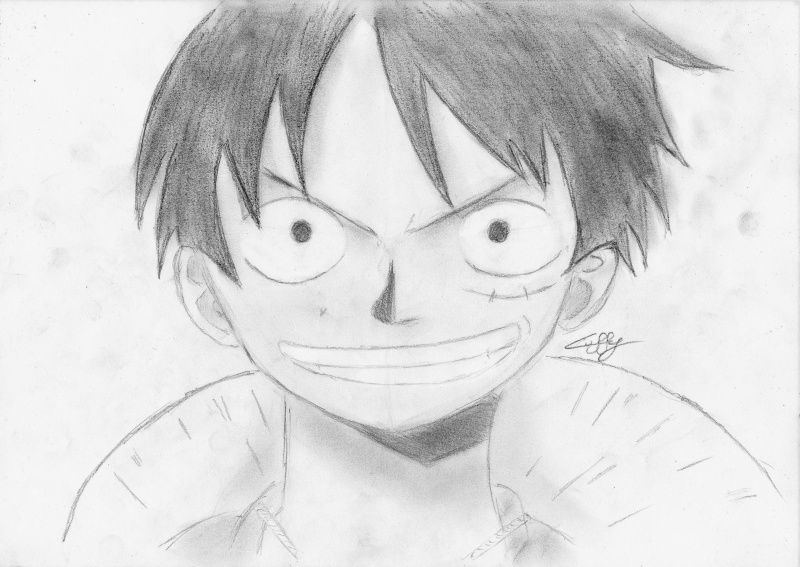 dessin manga one piece luffy