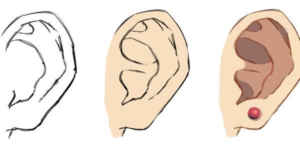 dessin manga oreilles