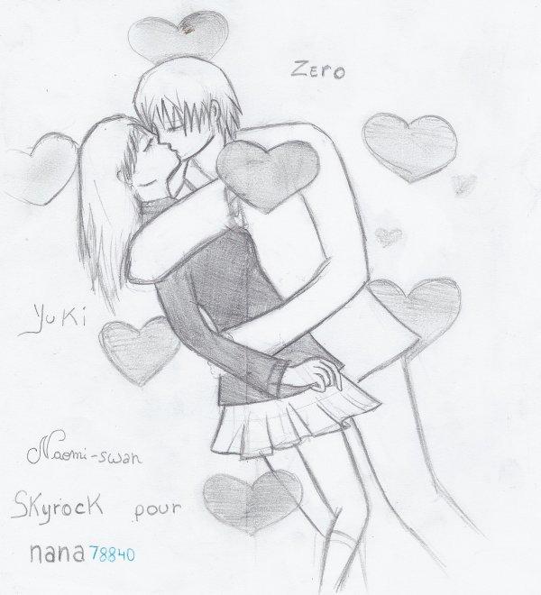 dessin manga qui s'embrasse