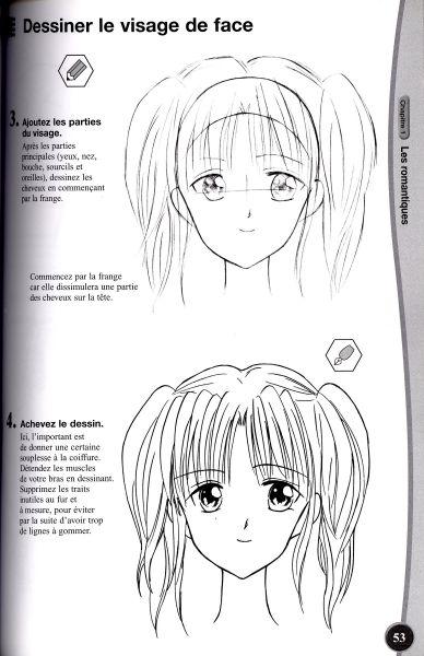 dessin manga simple fille