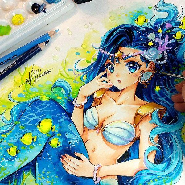 Dessin Manga Sirene Les Dessins Et Coloriage