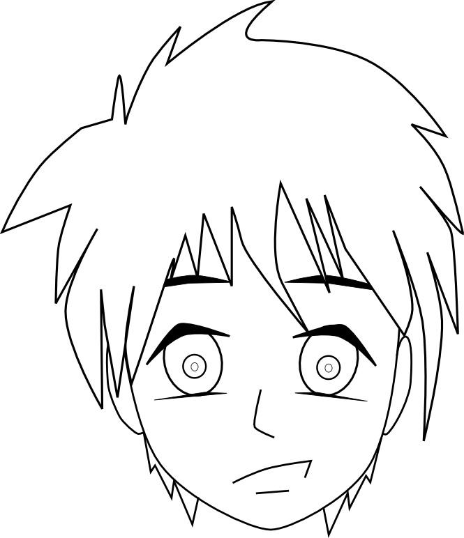 Dessin Manga Visage Facile Les Dessins Et Coloriage