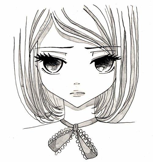 Dessin Manga Visage Triste Les Dessins Et Coloriage