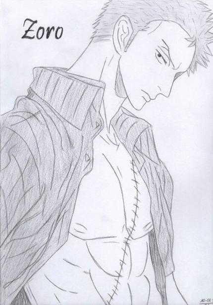 dessin manga zoro