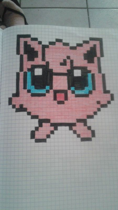 dessin pixel a carreau