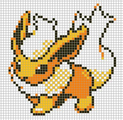 dessin pixel a imprimer pokemon
