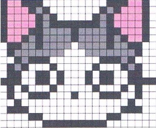 dessin pixel art chat