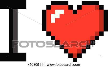 Pixel Art Coeur Angleterre