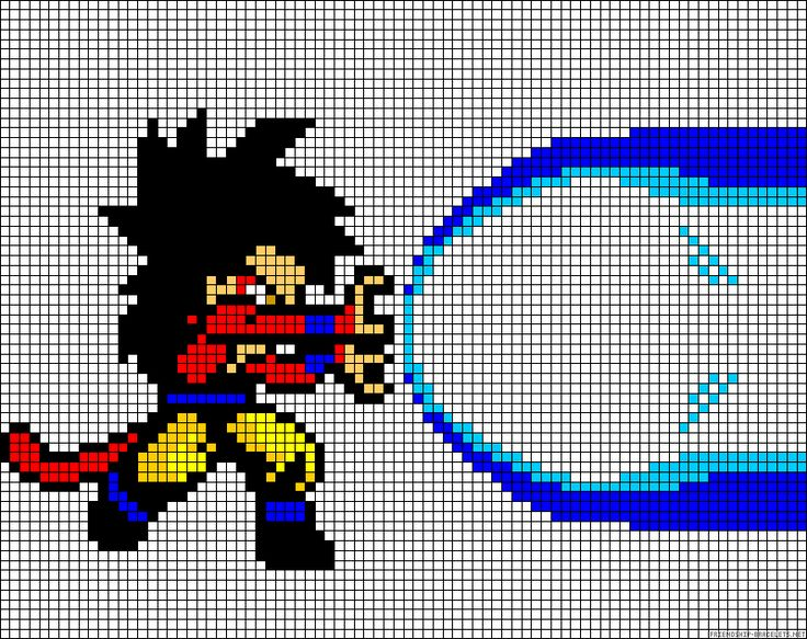 dessin pixel art dragon ball z