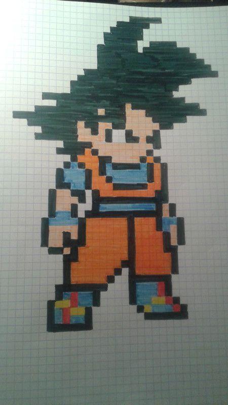 dessin pixel art dragon ball z