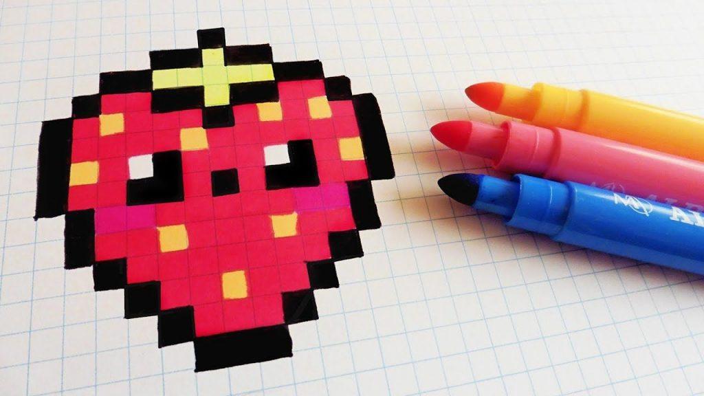 Dessin Pixel Art Kawaii Les Dessins Et Coloriage