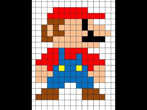 Dessin Pixel Mario Champignon
