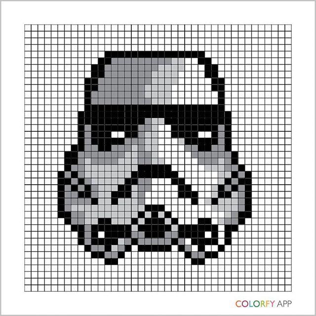 Dessin Pixel Star Wars